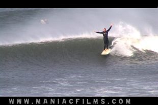 Straight down the line with Croyde local surfer Dessy