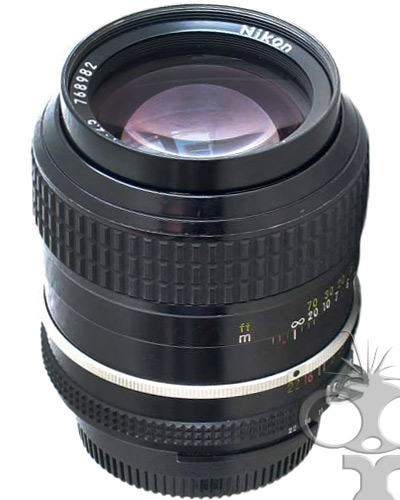 Nikon 105mm f/2.5 manual focus lens