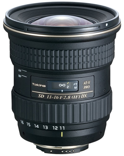 Image of the Canon EF fit Tokina 11-16mm AF ATX Pro zoom f2.8 lens