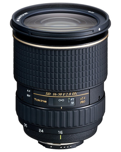 Image of the Canon EF fit Tokina 16-50mm AF f2.8 lens