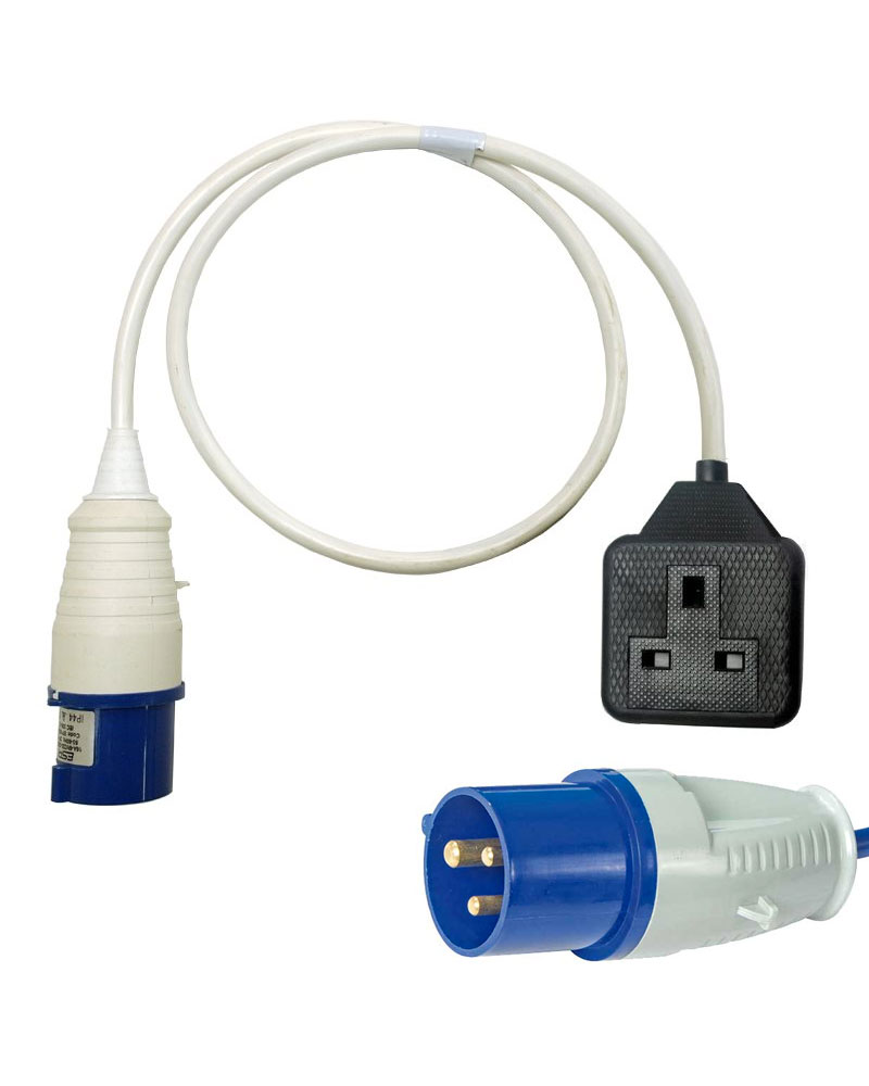 16A 230V CEE Male socket extension lead various lengths