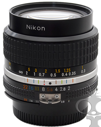 Image of the Nikon 024mm f/2 manual focus prime lens  - will fit Canon EF