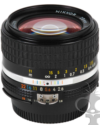 Nikon 028mm f/2.8 manual focus prime lens  - will fit Canon EF