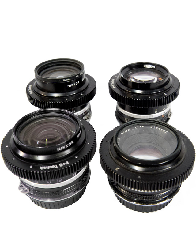 Image of the Nikon fast lens kit - 4 fast Canon EF mount lenses