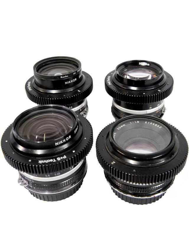 Nikon fast lens kit - 4 fast Canon EF mount lenses