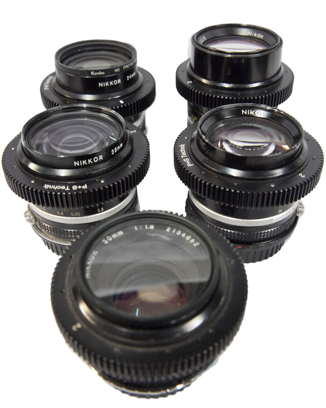 Nikon fast lens kit - 5 fast Canon EF mount lenses