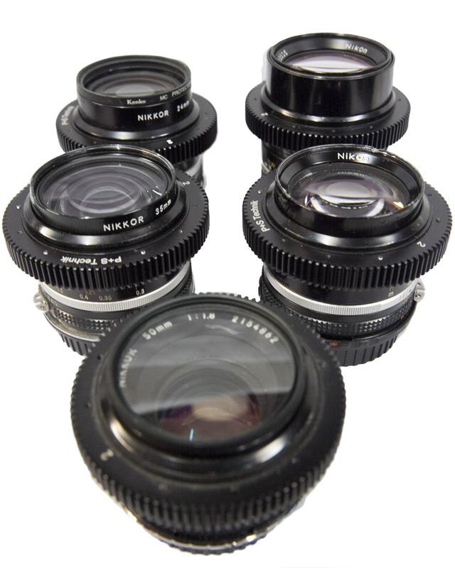 Nikon fast lens kit - 5 fast Canon EF mount lenses