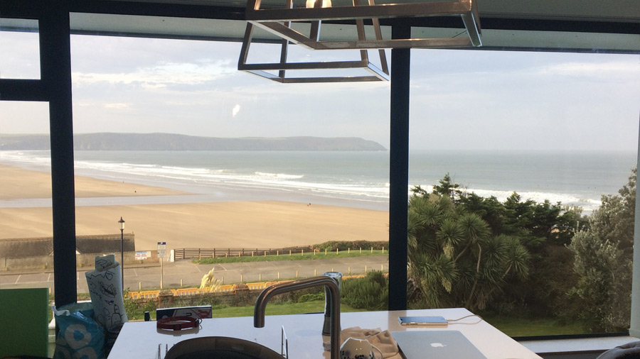 View for Woolacombe Absolute Dogs filming