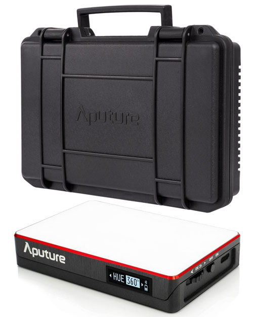 Image of the Aputure AL-MC RGBWW Colour 4x LED Kit with QI Charging Case
