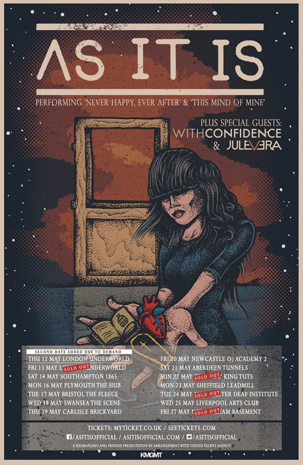 As It IS tour poster