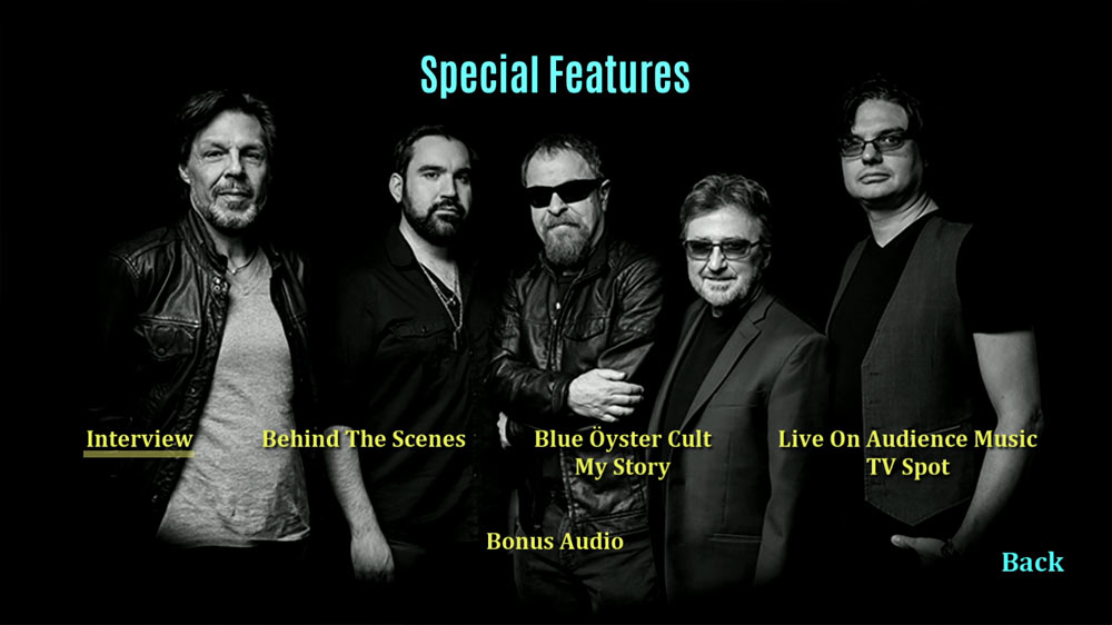 Blue Oyster Cult Blu-ray Extra features
