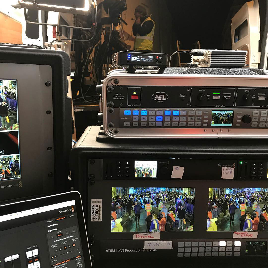 Bridgwater Carnival 2018 live mixing desk