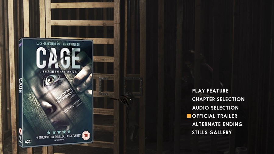 Cage DVD medu & cover designs