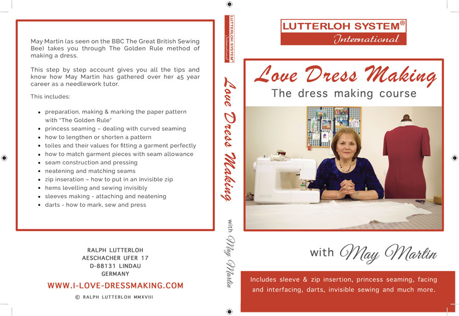 I love Dressmaking. DVD wrap for the latest May Martin dressmaking DVD