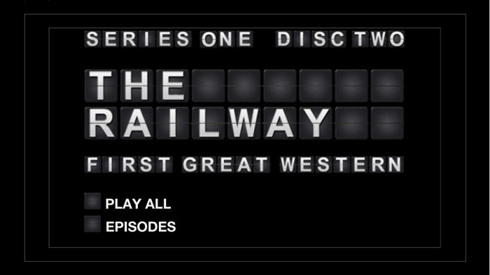 First Great Western DVD menu for TwoFour