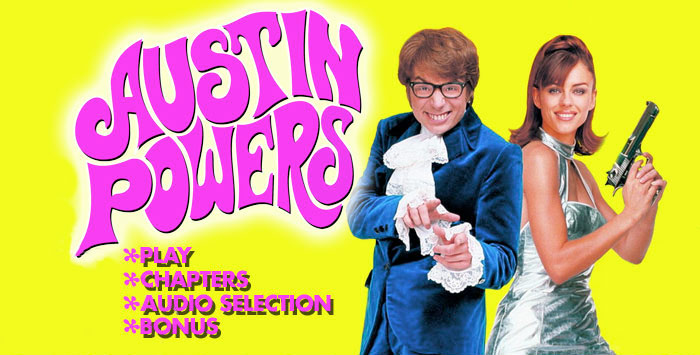Blu-ray & DVD menu design for Austin Powers