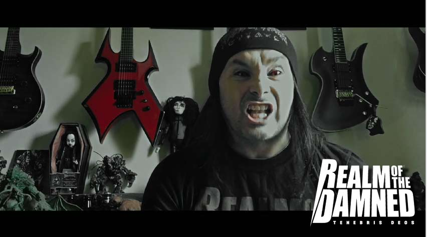 Dani Filth (Cradle of Filth) the voice of Balaur in Realm of the Damned