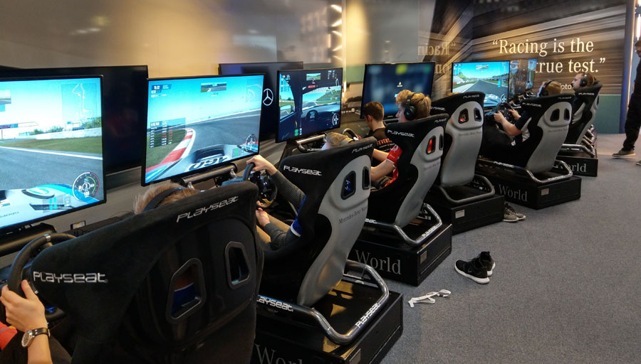 eSports car racing at its best with Events House at Mercedes Benz World