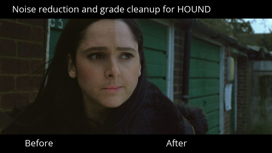 Example noise reduction on a shot from HOUND