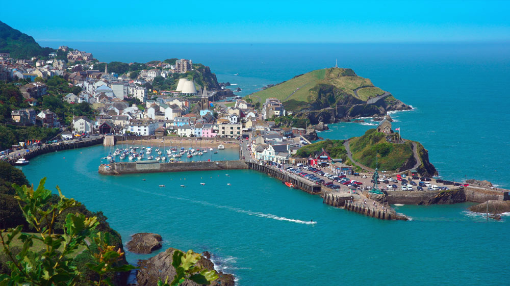 Scenic shots of Ilfracombe Harbour