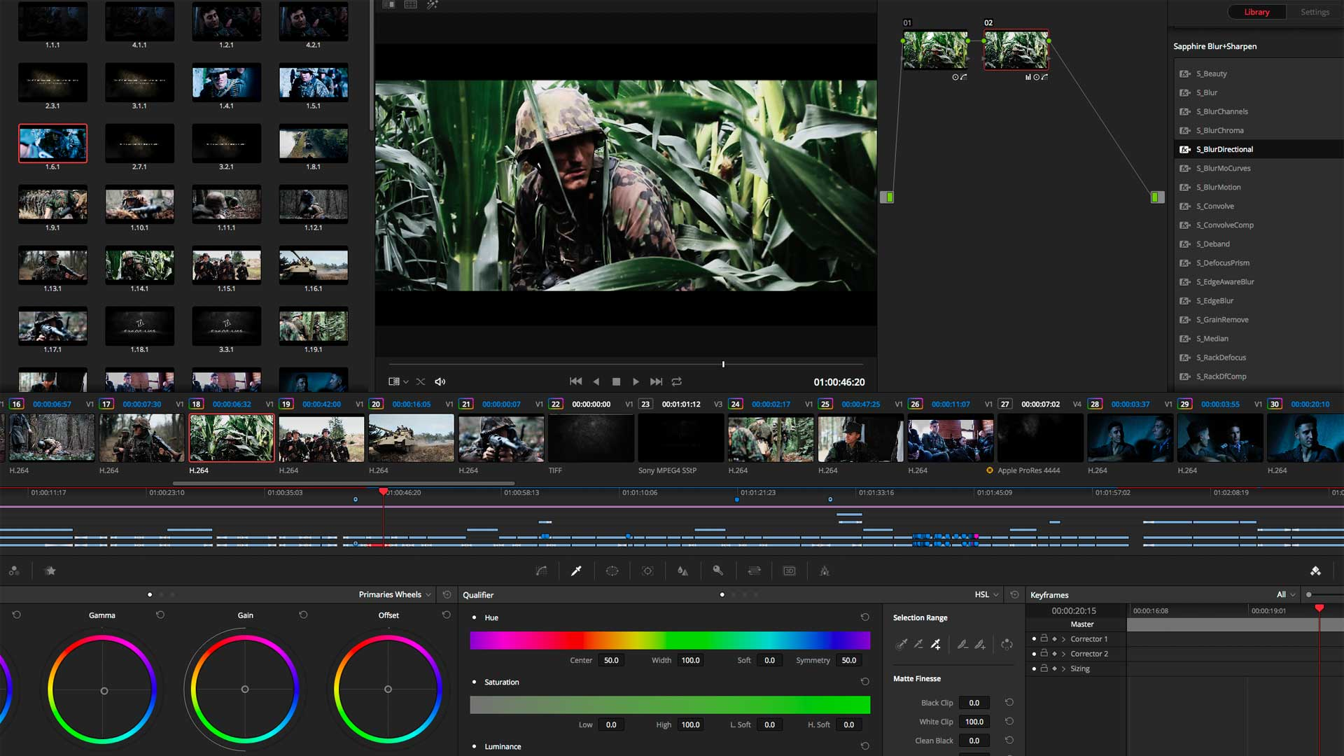 My Honor Was Loyalty currently being graded in Davinci Resolve