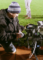 Mark Brindle as film crew on recent TV advert