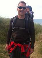 Mark Brindle near home in Croyde Bay North Devon