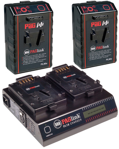 Pag Paglink v-lock 150w dual battery kit with charger