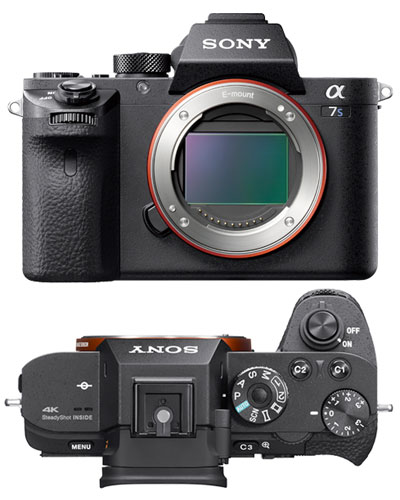 Image of the Sony A7Sii 4k video camera kit