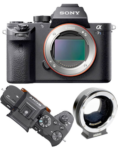 Image of the Sony A7Sii 4k video camera EF kit