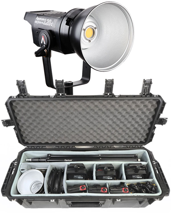 Image of the Aputure LS C120D MK II LED 3 Piece Light Kit