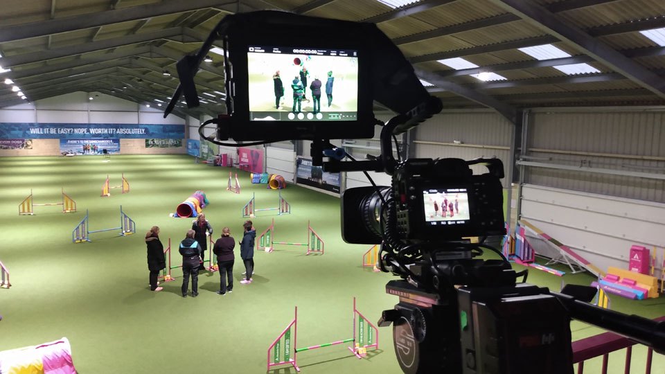 Live filming with Dog Agility World Champion