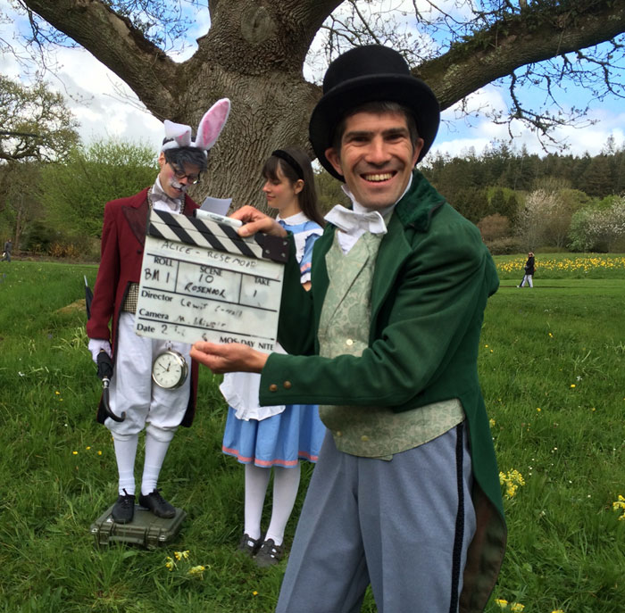 Filming Alice in Wonderland at RHS Rosemoor