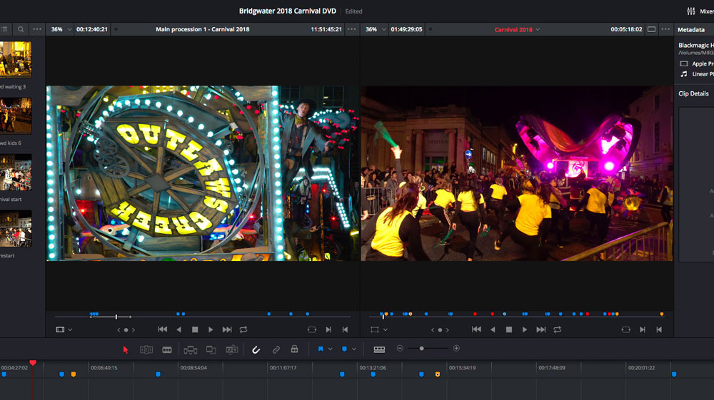 Bridgwater Carnival 2018 live event editing
