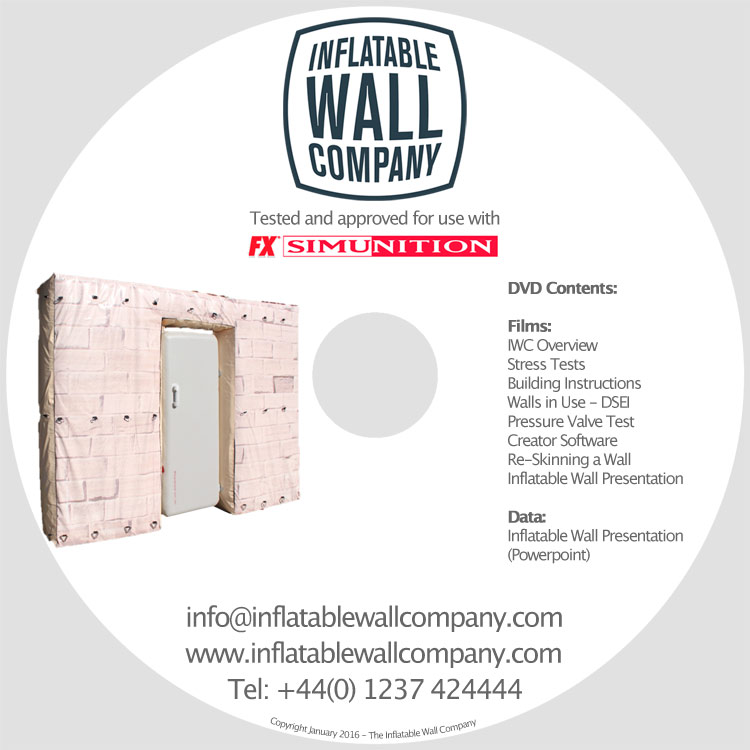Extra DVD duplication for the Inflatable Wall Company