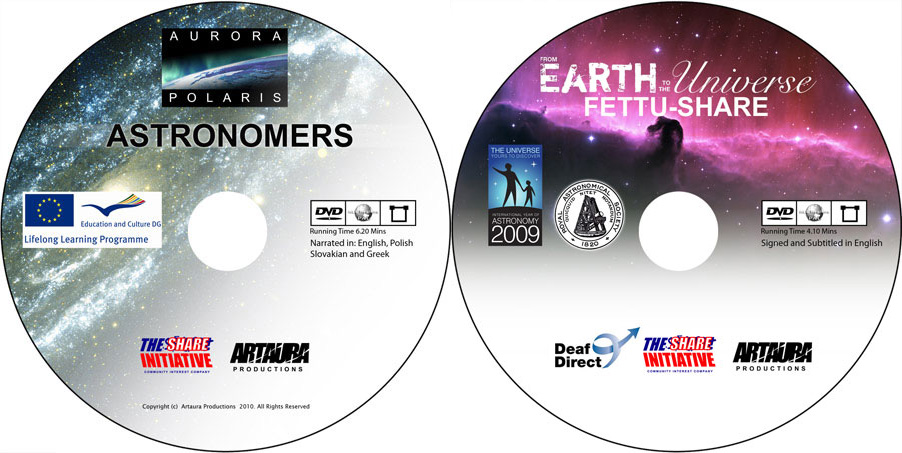 Astronomers and Fettu-share DVD authoring and and duplication