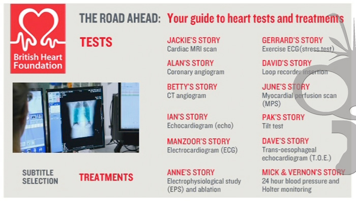 Tests & Treatments DVD Authoring for British Heart Foundation