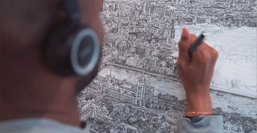 DCP for Stephen Wiltshire feature Billions of Windows