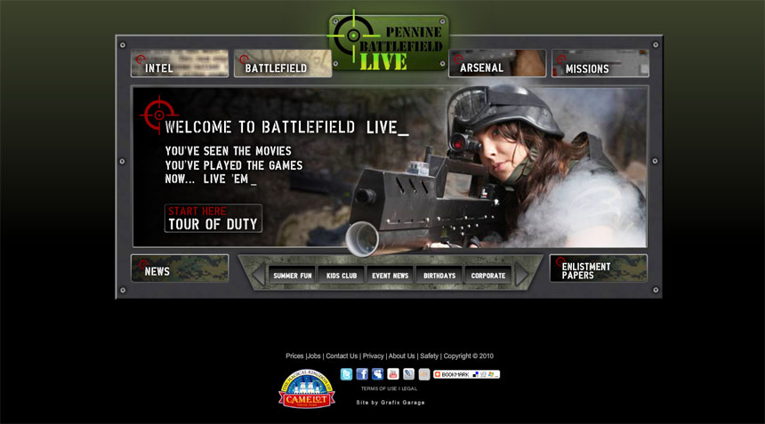Website assistance for Battlefield Live Pennine