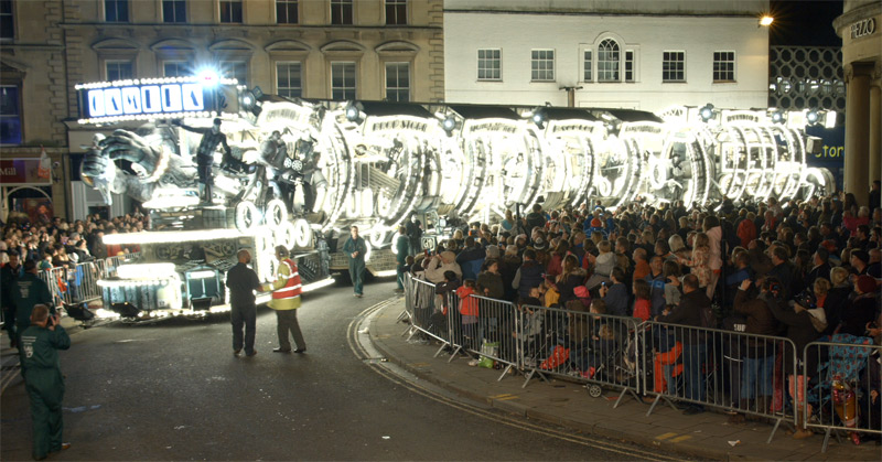 Live filming vision mixing  DVD & Blu-ray production for Bridgwater Carnival 2015