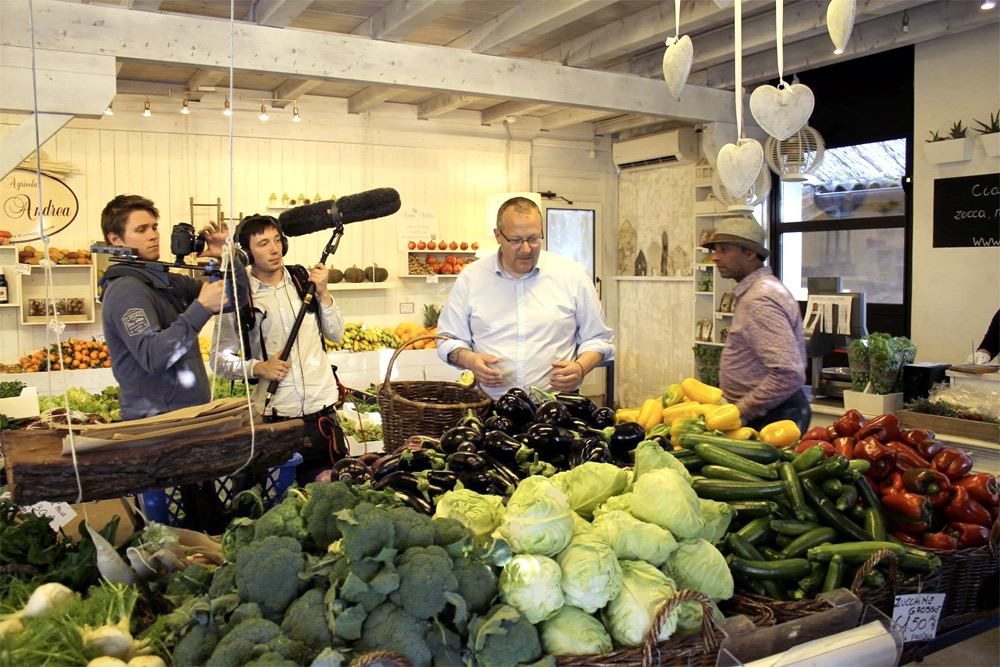 Camera hire for filming Cooking Up A Feast tv programme
