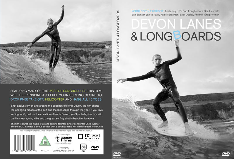 DVD production and replication for Devon Lanes & Longboards