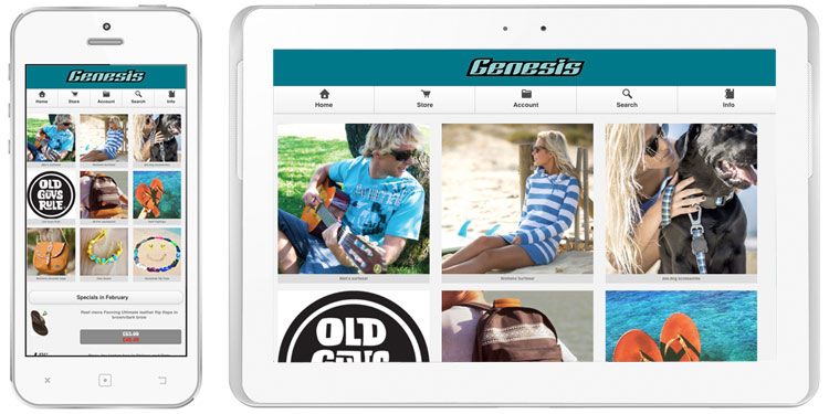 Genesis Surf Shop Mobile Site Now Live
