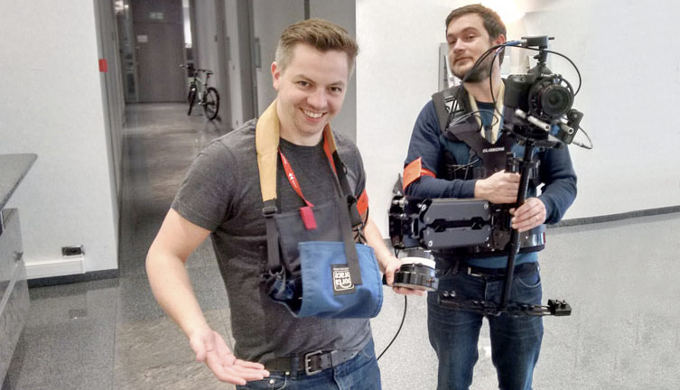 Glidecam vest & remote follow focus hire for GSL media