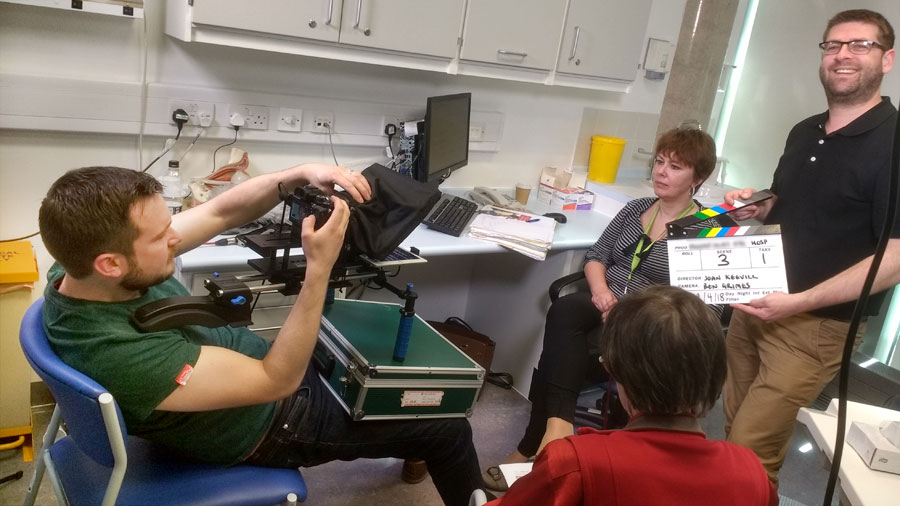 Sound crew & teleprompter hire for hospital training film