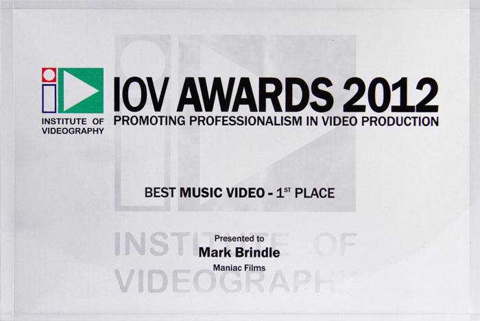 Maniac Films wins 1st place at the IOV awards