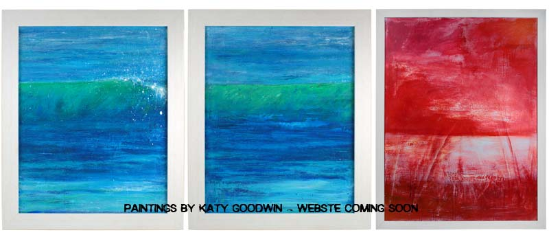 Painting photography and site design for Katy Goodwin begins