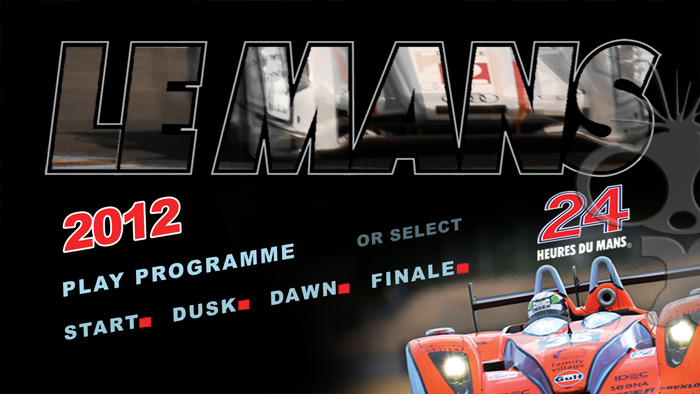 Blu-ray authoring for Le Mans 24 hours 2012