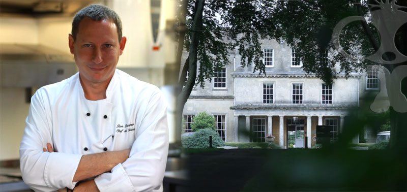 Trenchermans guide promo filming at Lucknam Park Hotel with Michael Caines MBE