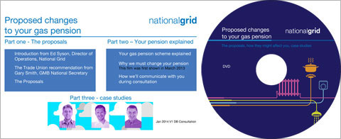 National Grid gas pensions DVD authoring